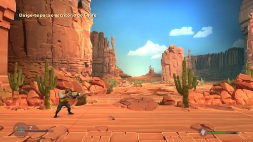 Provavelmente a cena que mais destoa do cenário intergaláctico presente em quase todo o jogo.
