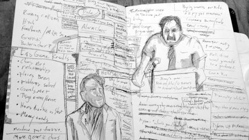 Notas de design escritas pelo Richard