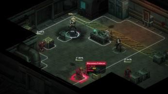 Os pontinhos brancos representam o armor e o círculo vermelho no chão ganha outro formato quando o inimigo está protegido pelo cover.